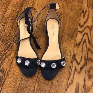 Zara Woman Denim Heels